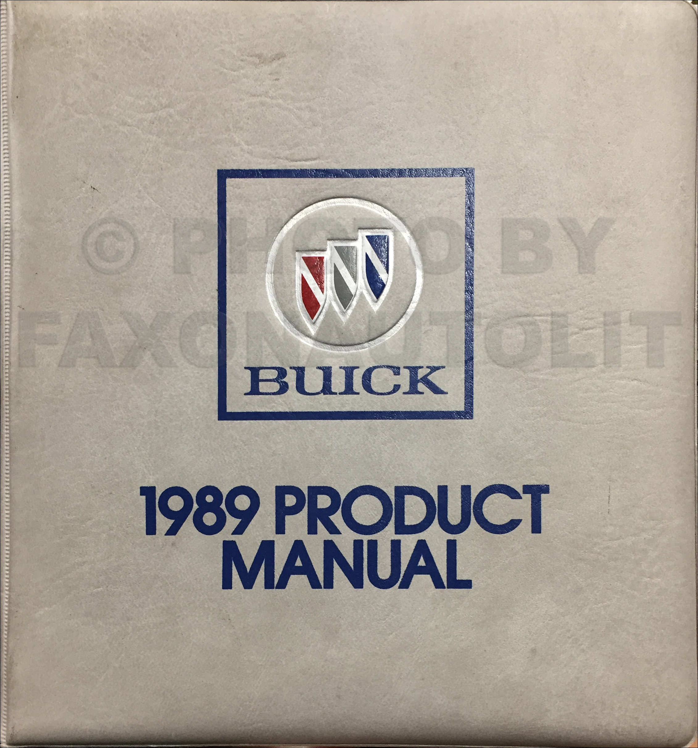 1989 Buick Color & Upholstery Dealer Album/Data Book Dealer Album Original