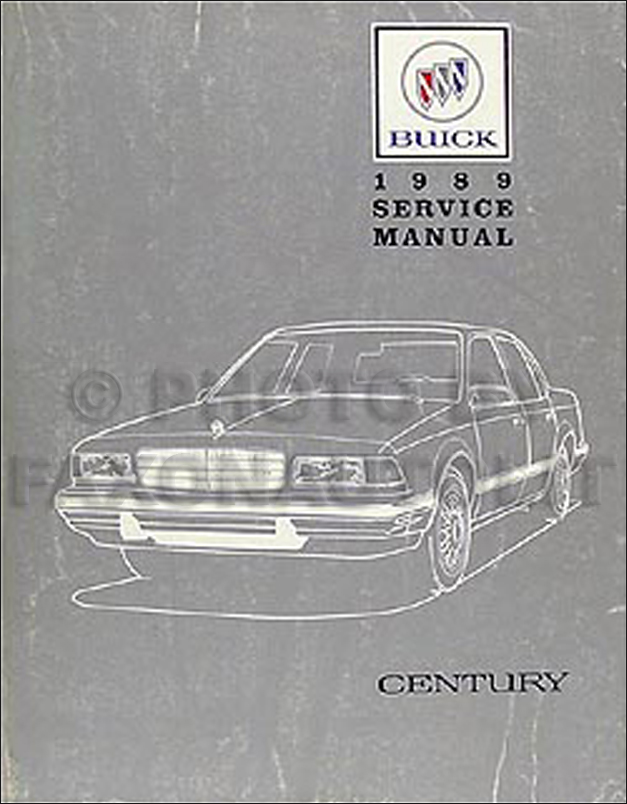 1989 Buick Century Repair Manual Original