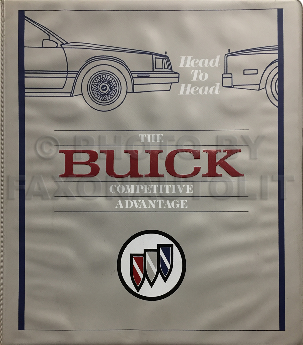 1989 Buick Competitive Comparison Dealer Album Original