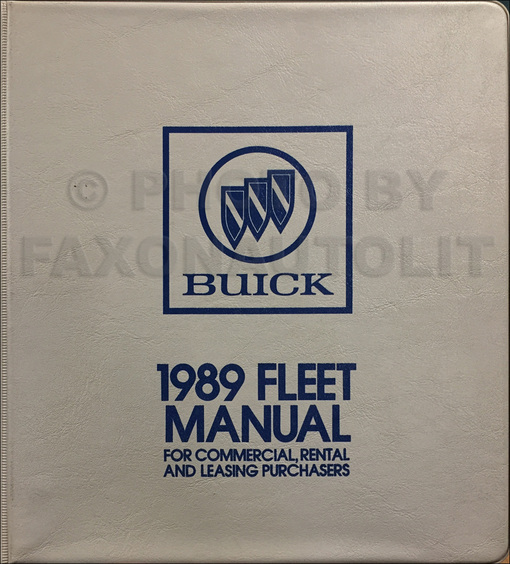 1989 Buick Fleet Buyers Guide Original