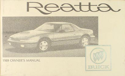 1989 Buick Reatta Original Owners Manual