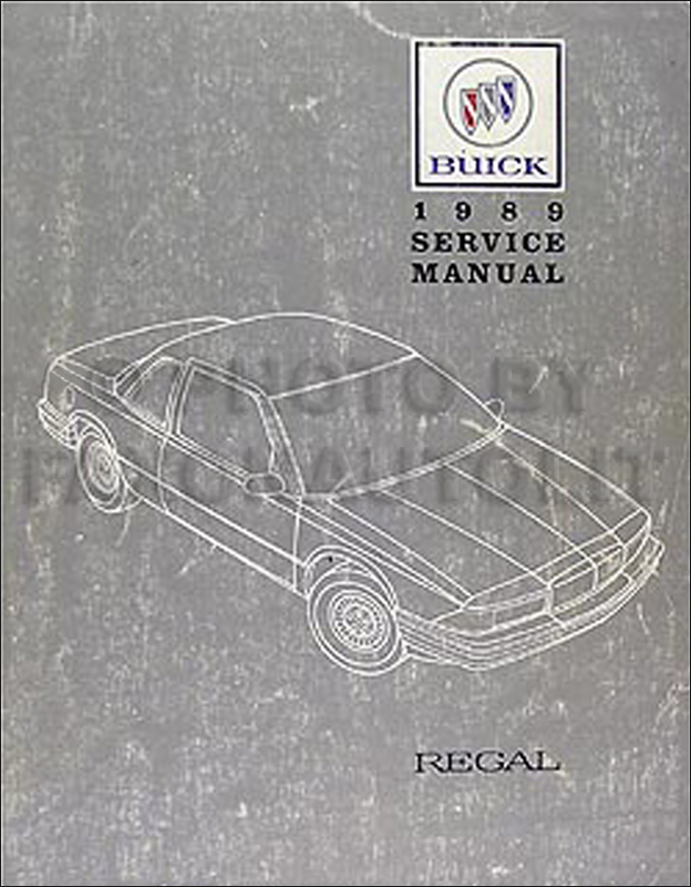 1989 Buick Regal Repair Manual Original