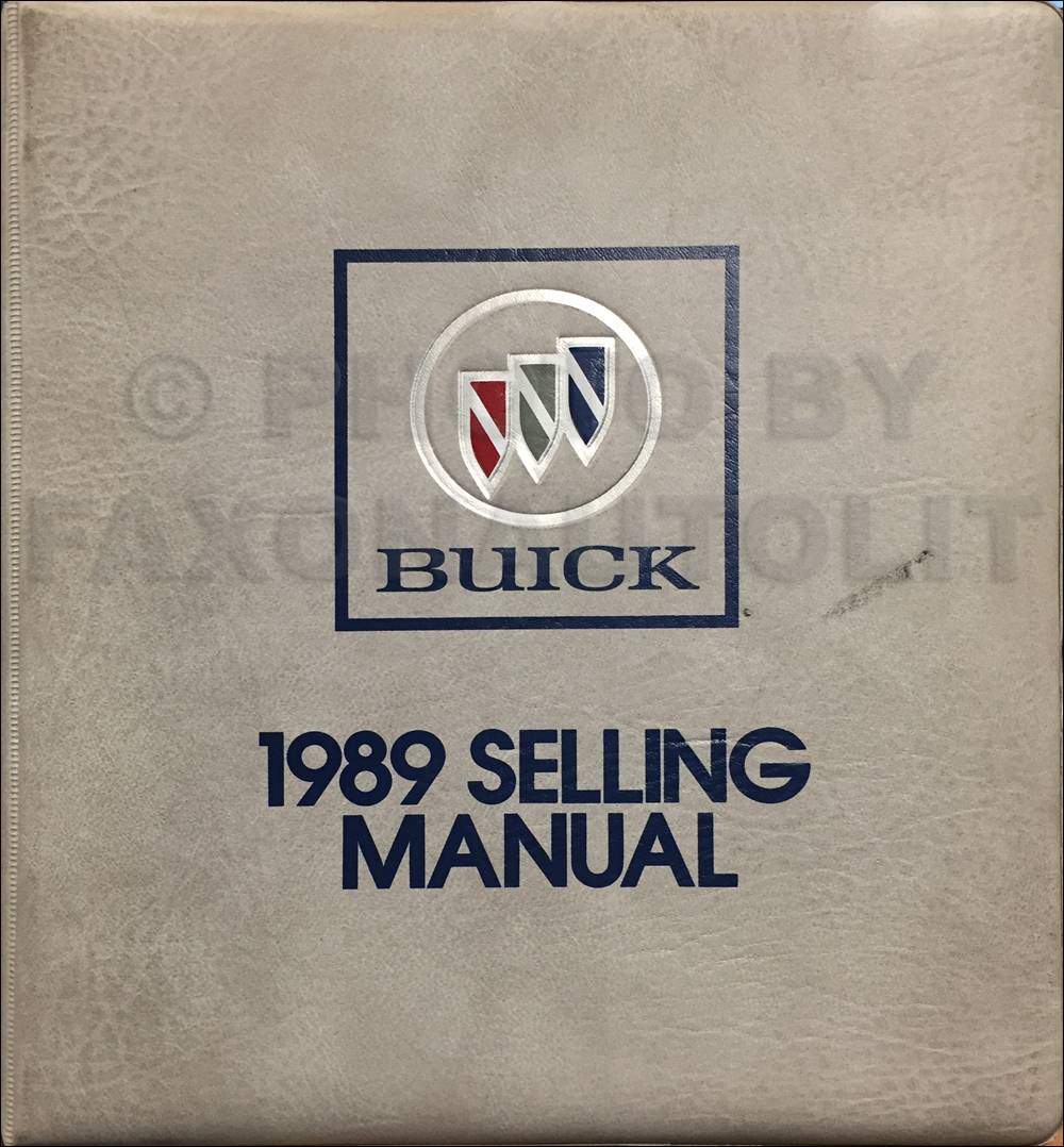 1989 Buick Selling Manual Dealer Album Original