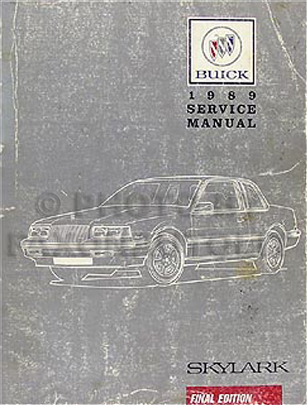 1989 Buick Skylark Shop Manual Original