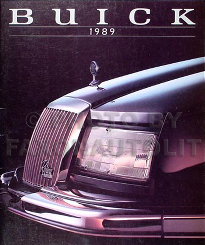 1989 Buick Sales Catalog Original--All Models