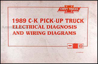 1989 chevy c k pickup wiring diagram manual original Specs for Chevy Trucks