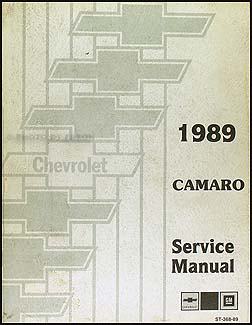 1989 Chevy Camaro Repair Manual Original