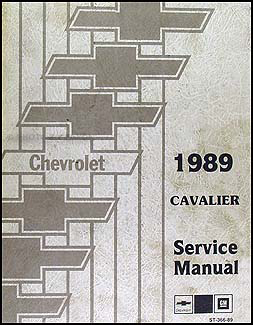 1989 Chevy Cavalier Repair Manual Original