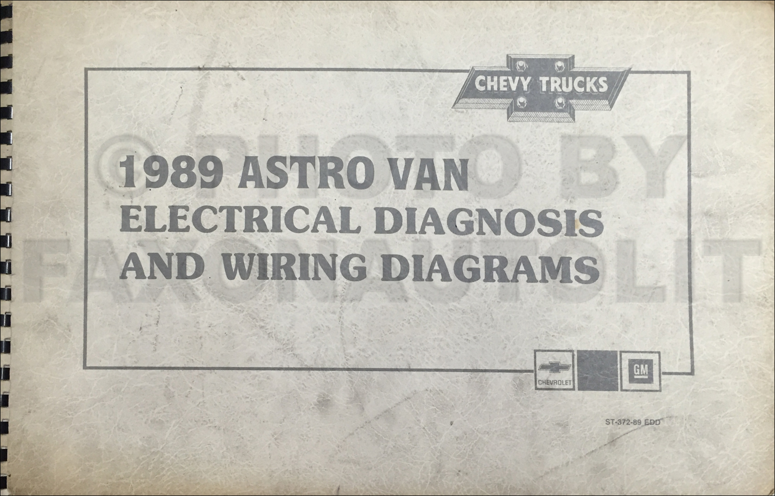 1989 Chevy Astro Van Wiring Diagram Manual Original