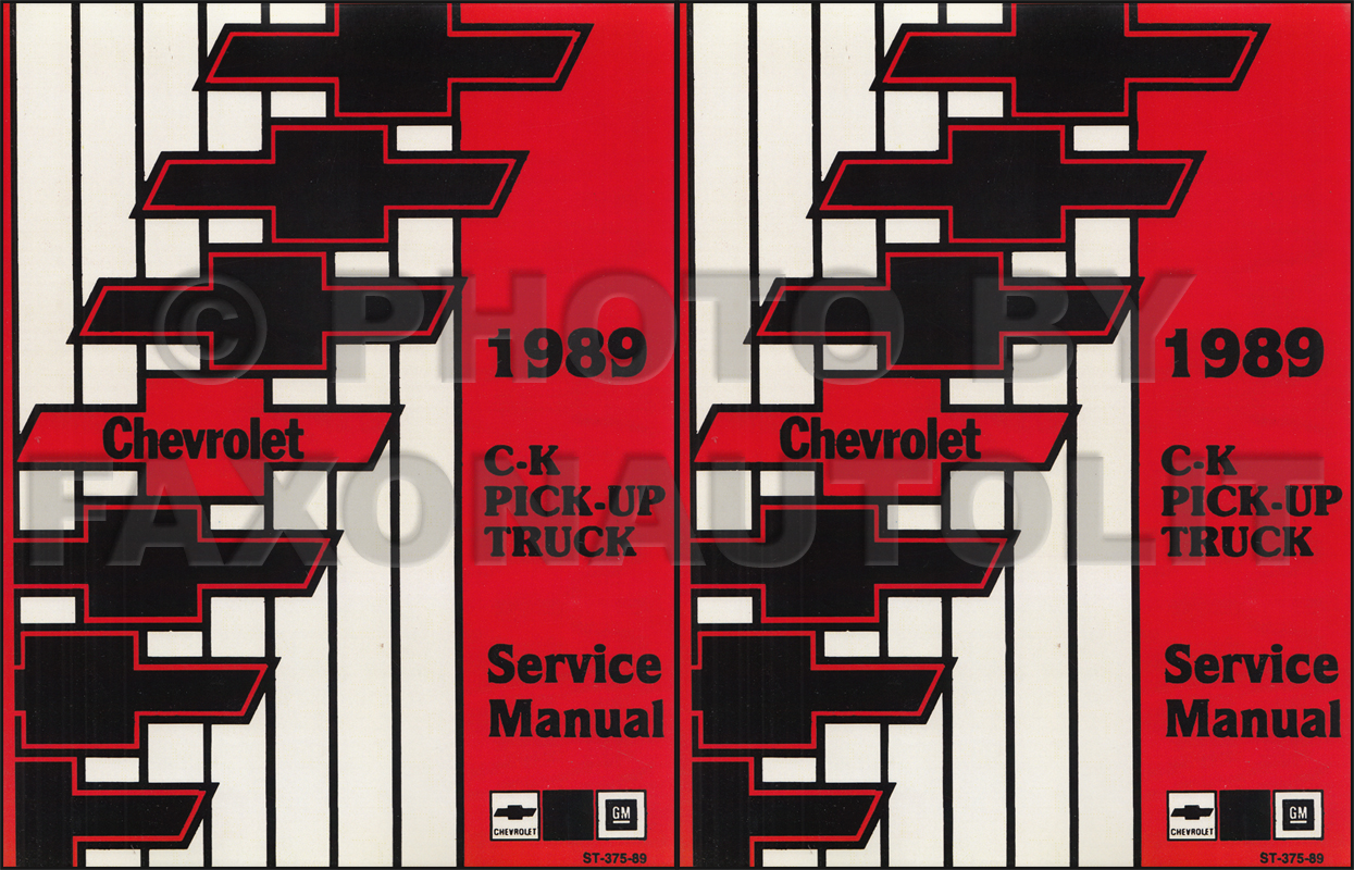1989 Chevy C  K Pickup Wiring Diagram Manual Original