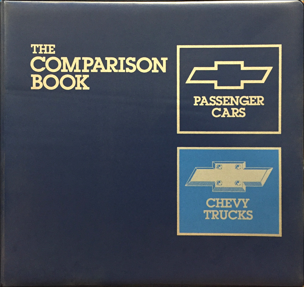 1989 Chevrolet Competitive Comparison Dealer Album Original