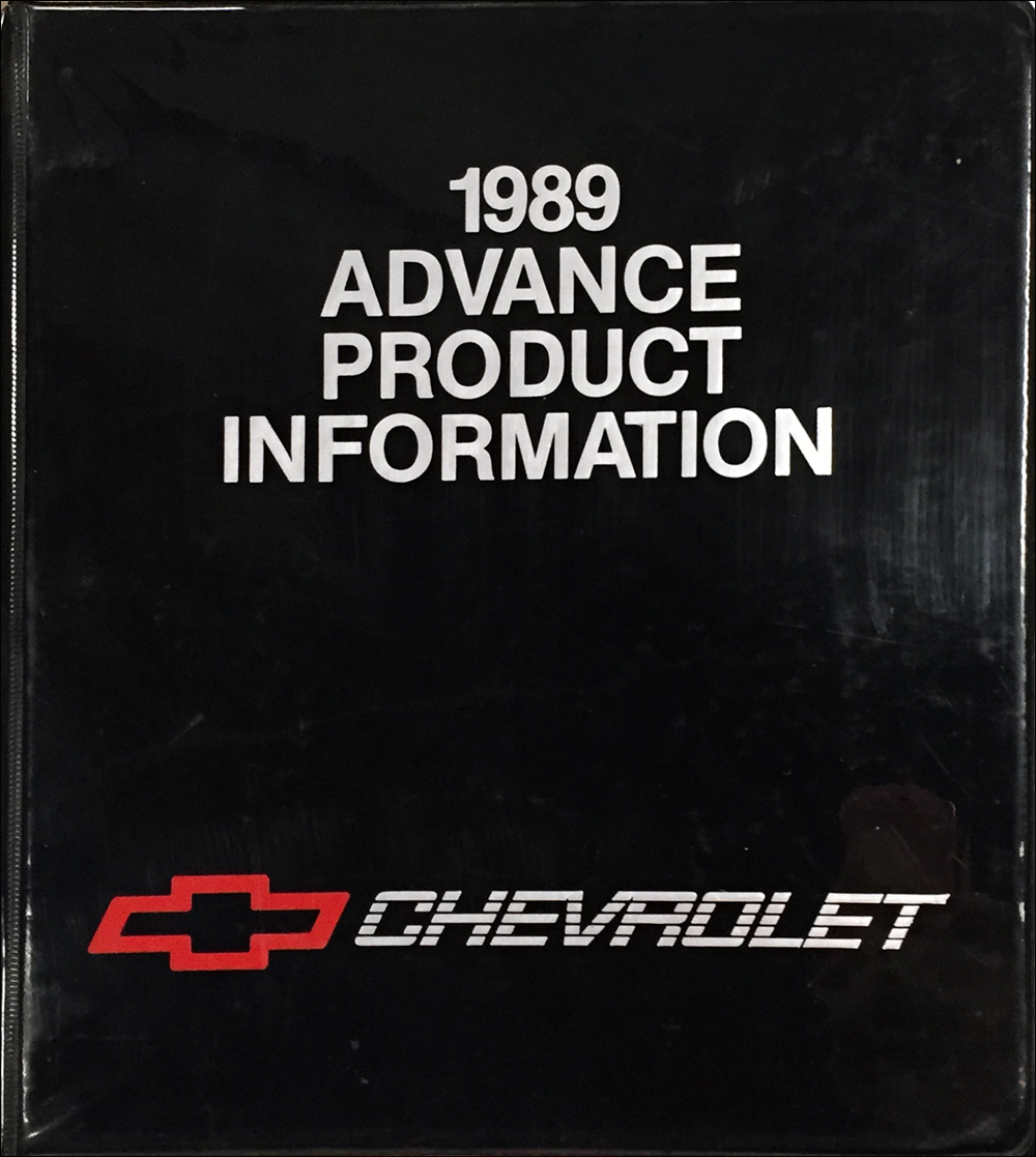 1989 Chevrolet Advance Technical Press Kit Original