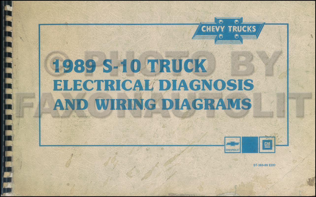 1989 Chevy S-10 Pickup & Blazer Wiring Diagram Manual Original