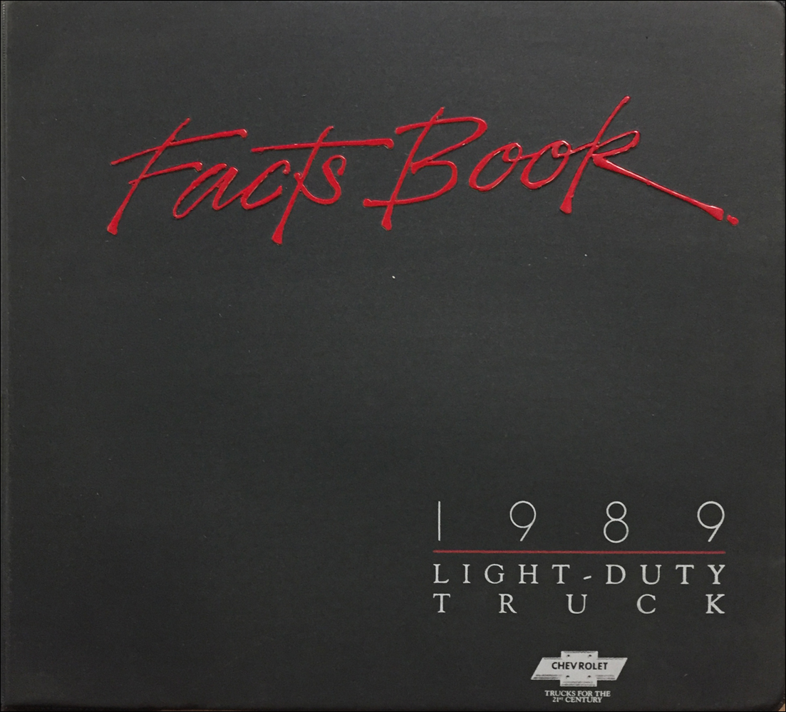 1989 Chevrolet Light Truck Facts Book Color and Upholstery Dealer Album Original