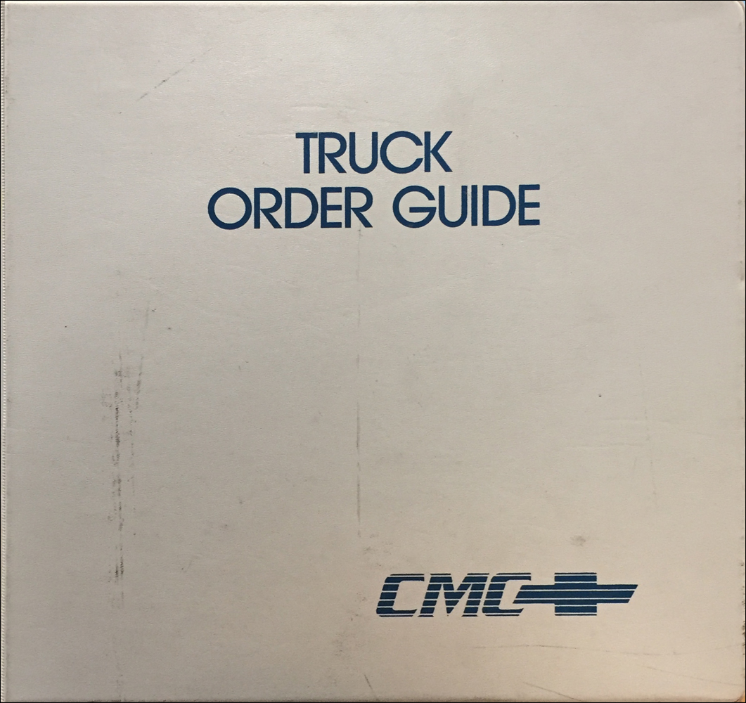 1989 Chevrolet Truck Order Guide Dealer Album Original