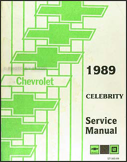 1989 Chevy Celebrity Repair Manual Original