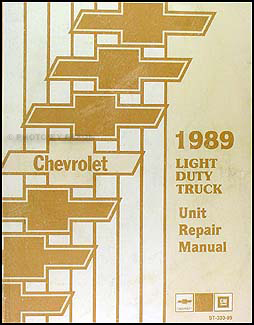 1989 Chevy 1/2, 3/4, & 1 ton Truck Overhaul Manual Original