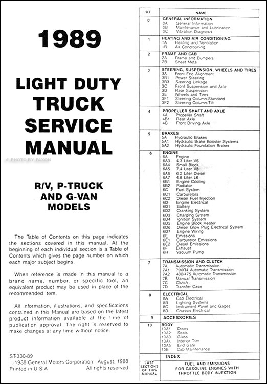 1988 chevy s10 service manual wiring diagram