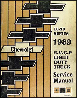 1989 Chevy Truck Repair Shop Manual Original Pickup Blazer Suburban Van FC