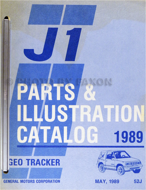 1989 Chevrolet Geo Tracker Parts Book Original