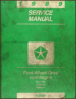 1989 Caravan & Voyager Van Repair Manual Original