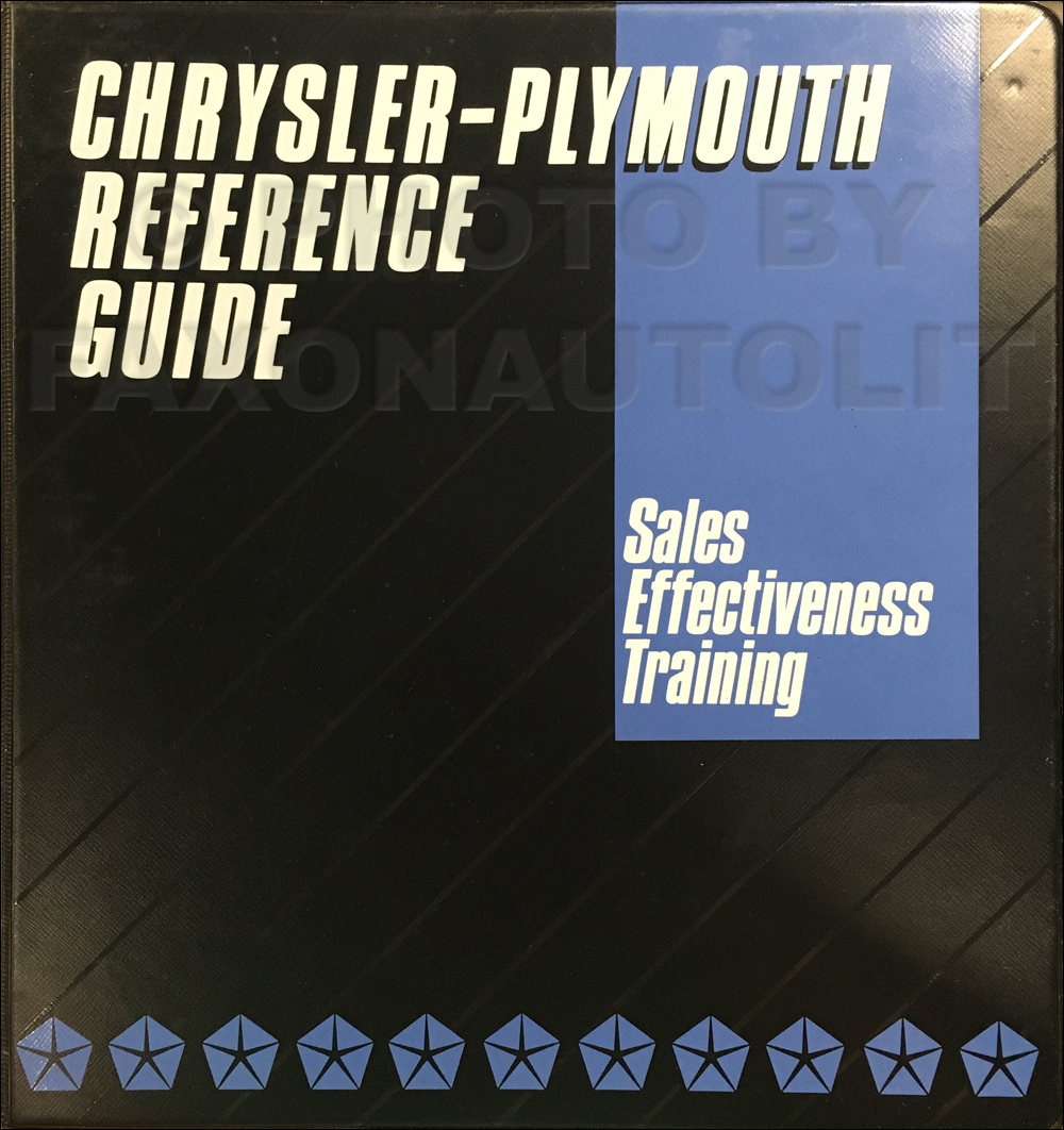 1989 Chrysler Plymouth Sales Training Album Original