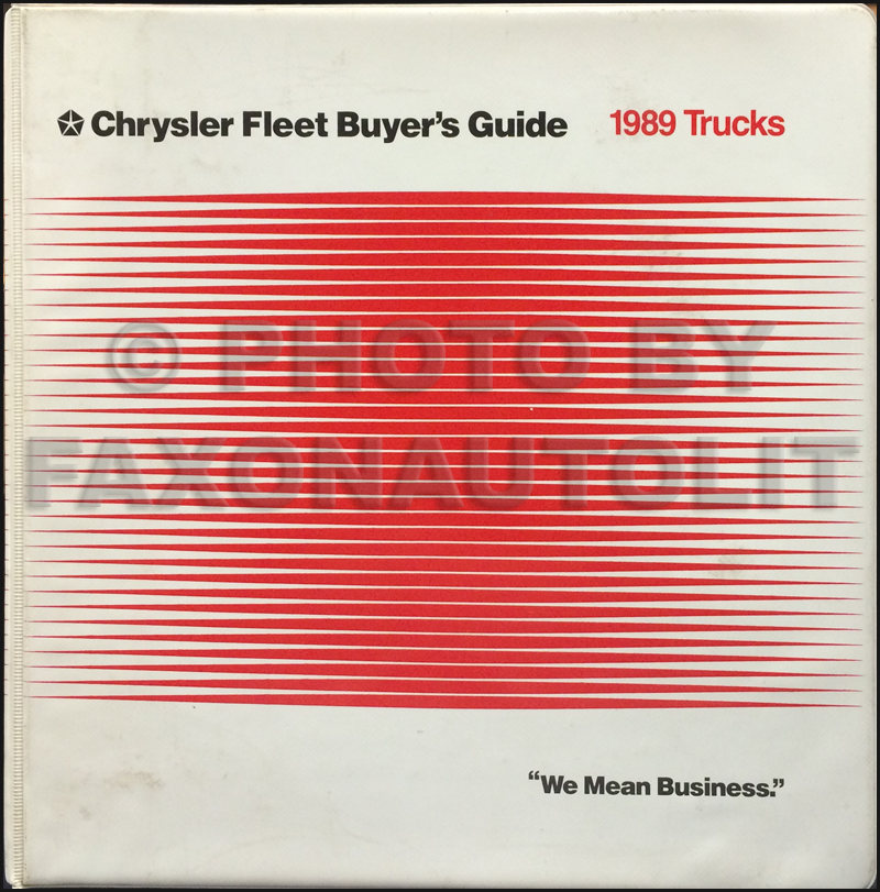 1989 Dodge Truck Jeep Fleet Buyer's Guide Original