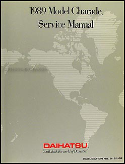 1989 Daihatsu Charade Original Repair Manual
