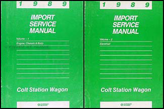 1989 Colt Station Wagon Shop Manual Original 2 Volume Set