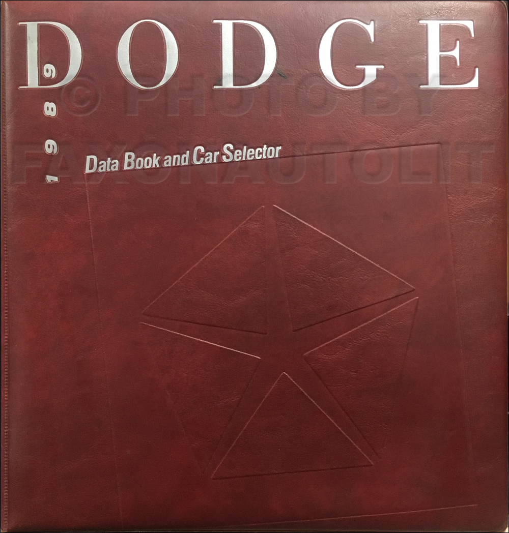 1989 Dodge Data Book Original
