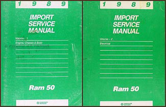 1989 Dodge Ram 50 Truck Shop Manual Original 2 Volume Set