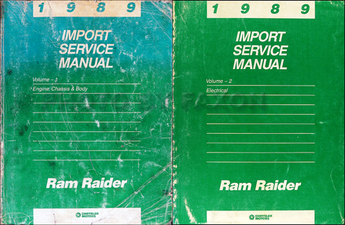 1989 Dodge Ram Raider Shop Manual Original 2 Volume Set