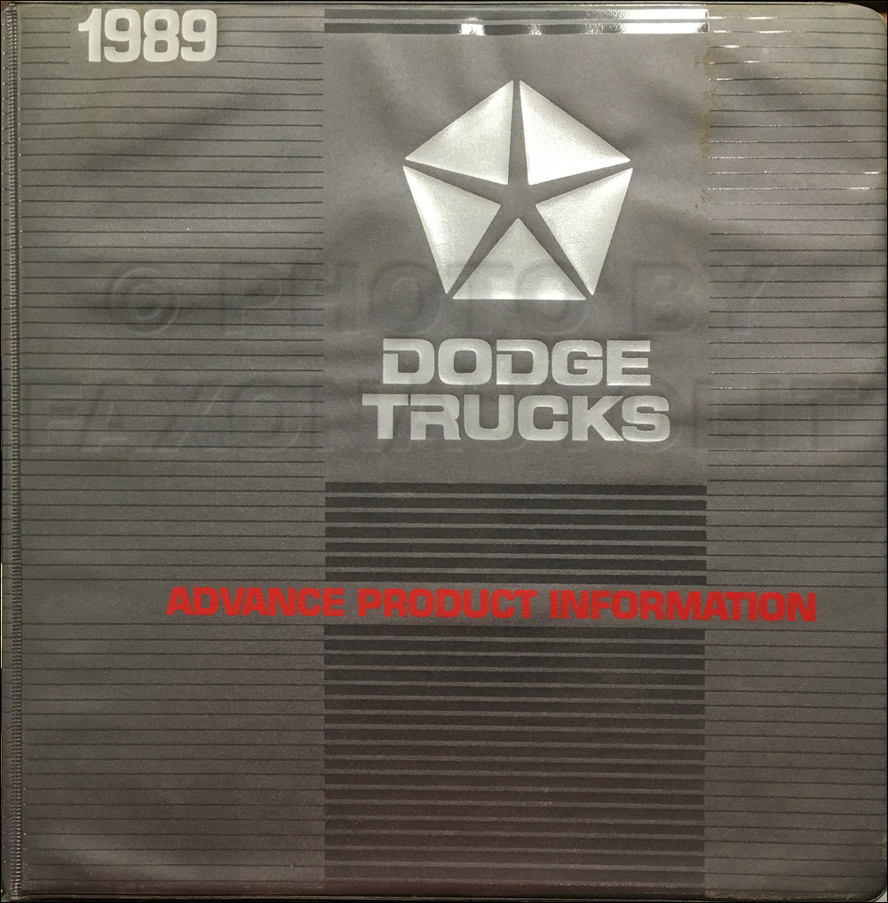 1989 Dodge Truck Advance Product Information Album Original