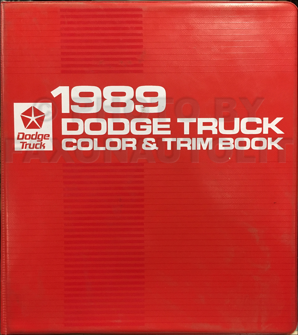 1989 Dodge Truck Color & Upholstery Album Original