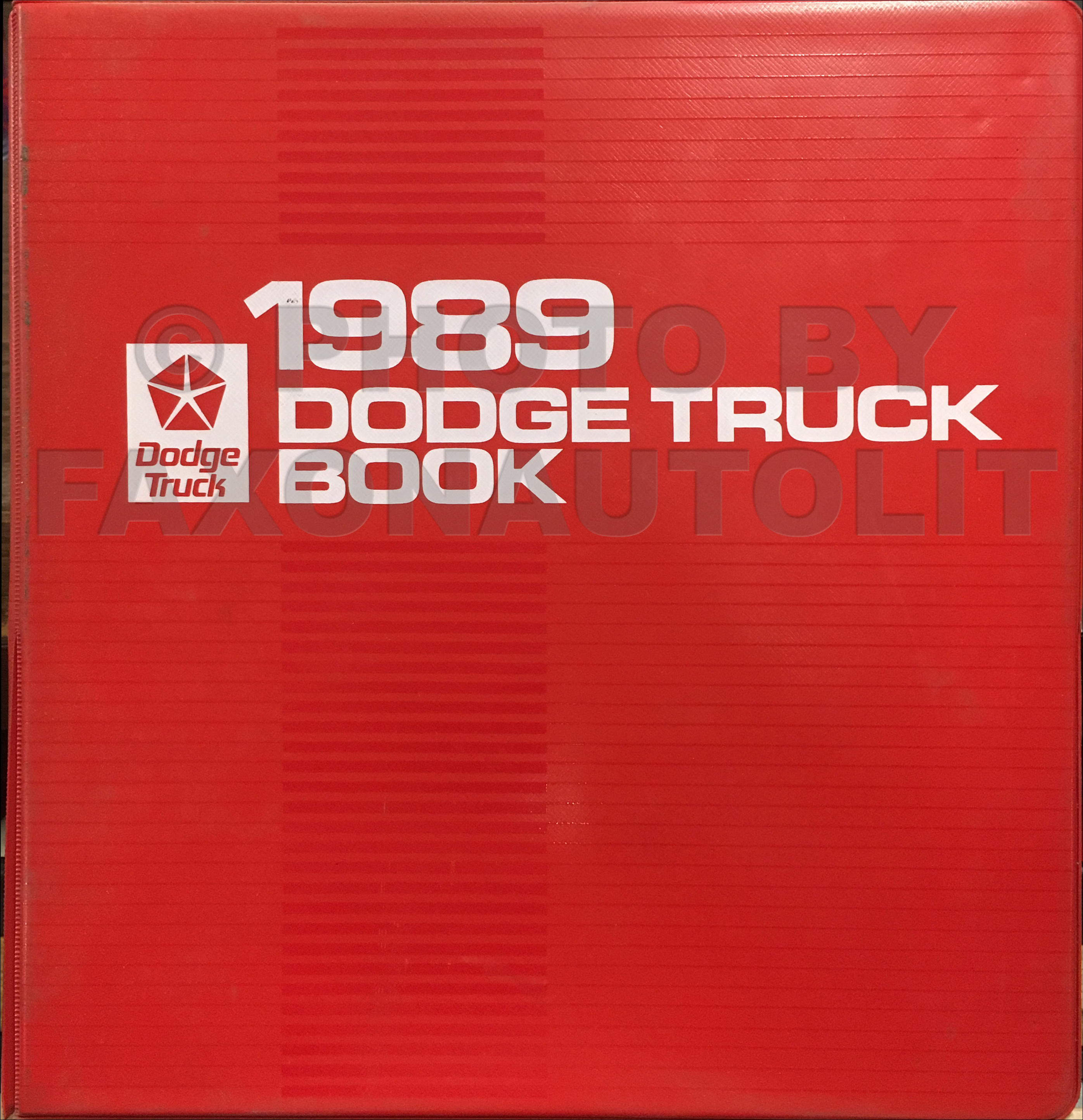 1989 Dodge Truck Color & Upholstery Album and Data Book Original