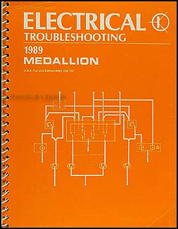 1989 Medallion Electrical Troubleshooting Manual Original