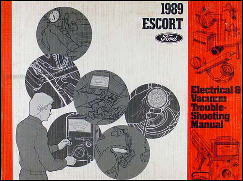 1989 Ford Escort Electrical and Vacuum Troubleshooting Manual Original