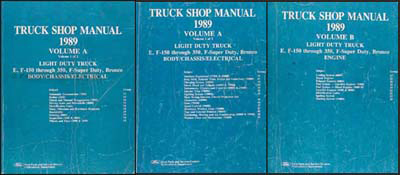 1989 Ford Truck Repair Shop Manual Set F150 F250 F350 Bronco Econoline Van