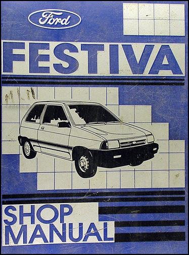 1989 Ford Festiva Shop Manual Original