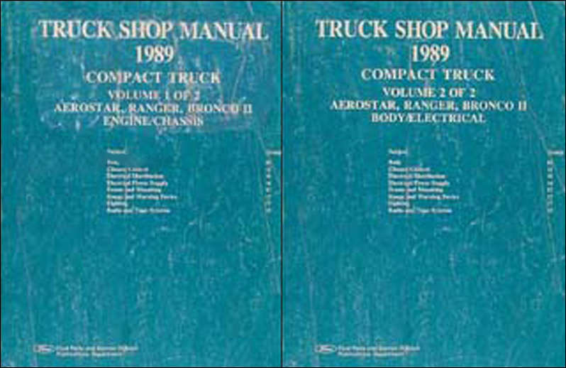 1989 Ford Aerostar Ranger and Bronco II Repair Shop Manual Set Original