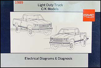 1989 GMC C/K Sierra Pickup Wiring Diagram Original