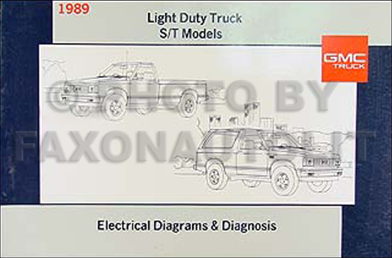 1989 gmc s15 pickup and jimmy wiring diagram manual original 1989 gmc wiring diagrams wiring