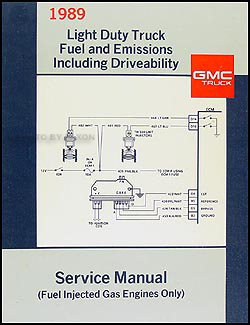 1989 GMC Fuel & Emissions Manual Original Pickup, Van, & Motorhome