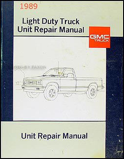 1989 GMC 1/2, 3/4, & 1 ton Truck Overhaul Manual Original