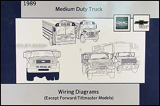 1989 GMC/Chevy Medium Truck Wiring Diagram Manual Original