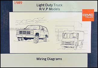 1989 GMC P Chassis Wiring Diagram Original Motorhome Step Value Van FC