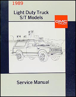 1989 GMC S-15 Pickup & Jimmy Shop Manual Original