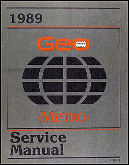 1989 Geo Metro Repair Manual Original