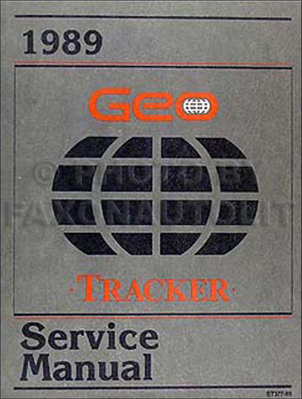 1989 Geo Tracker Repair Manual Original