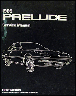 1989 Honda Prelude Repair Manual Original